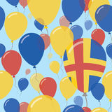 Aland Islands National Day Flat Seamless Pattern. Royalty Free Stock Images