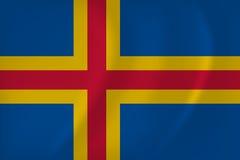 Aland Islands Vector Flag Royalty Free Stock Photo