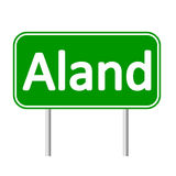 Aland road sign. Royalty Free Stock Image