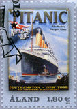 ALAND - 2012: Shows titanisch, titanisches Jahrhundert 1912-2012, weiße Stern-Linie Lizenzfreie Stockfotografie