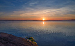 Aland sunset reflection in the water Stock Photography