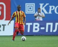 Alania's defender Ibrahim Gnanou Royalty Free Stock Images