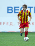 Alania's forward Aleksandr Marenich Royalty Free Stock Images