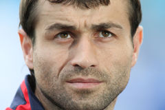 Alania's midfielder Georgij Bazaev Stock Photography