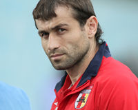 Alania's midfielder Georgij Bazaev Stock Image