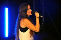 Alanis Morissette in concert in Italy Royalty Free Stock Photos