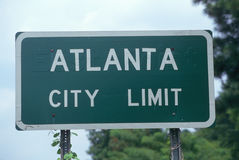 Alanta City Limit Road sign Stock Photo