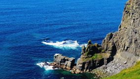 Moher Cliffs. The alantic ocean and the Moher Cliffs stock photo