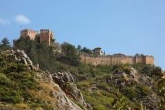 alanya城堡 免版税库存图片