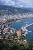 Alanya,土耳其全景 库存照片
