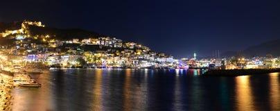 Alanya перемещения внешнего берега побережья острова морское, порт, корабль, волнорез стоковое фото