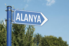 Alanya Antalya Turkey Road Sign Stock Photos