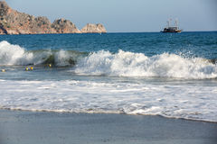 Alanya - the beach of Cleopatra Royalty Free Stock Photos