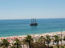 Alanya - the beach of Cleopatra Stock Photography