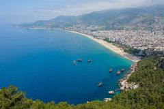 Alanya beach Stock Photography