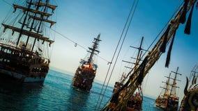 Alanya boat trip. Pirates sea stock photos