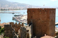 Alanya castle harbour Royalty Free Stock Image