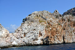 Alanya Castle from the Sea Royalty Free Stock Image