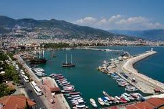 Alanya city and harbor Stock Photography