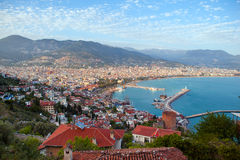 Alanya city hill Stock Photography