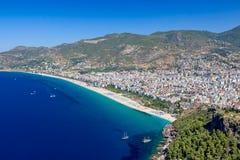 Alanya cityscape. Cleopatra's beach Royalty Free Stock Photo