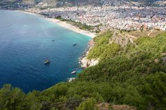 ALANYA CITYSCAPE. Turkey. Beautiful sea landscape with view on Alanya Royalty Free Stock Image