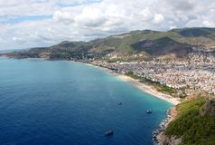 ALANYA CITYSCAPE. Turkey. Beautiful sea landscape with view on Alanya Stock Photography