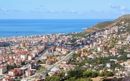 ALANYA CITYSCAPE. Turkey. Beautiful colourful landscape with view on Alanya Stock Photography