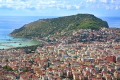 ALANYA CITYSCAPE. Turkey. Beautiful colourful landscape with view on Alanya Stock Photos