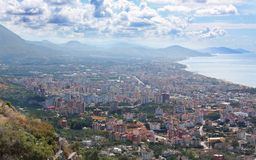 ALANYA CITYSCAPE. Turkey. Beautiful colourful landscape with view on Alanya Royalty Free Stock Photo