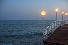 Alanya dock in the evening Royalty Free Stock Photography