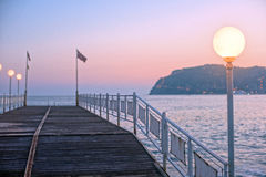 Alanya dock in the evening Stock Photos