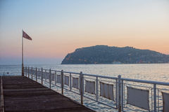 Alanya dock in the evening Stock Image