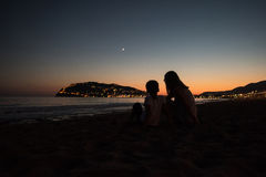 Alanya in the evening Stock Photography