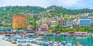 Alanya from the fishing port Stock Image