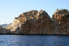 Alanya fortress and Byzantine churh Royalty Free Stock Image