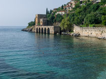 Alanya fortress and the sea Stock Images