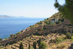 Alanya fortress wall Stock Photo