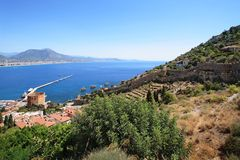 Alanya fortress wall Royalty Free Stock Image