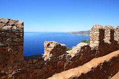 Alanya fortress wall Royalty Free Stock Photography