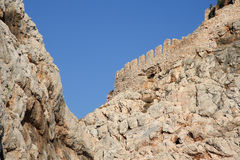 Alanya fortress wall Stock Images
