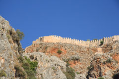 Alanya fortress wall Stock Photography