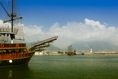 Alanya Hafen Stockfotos
