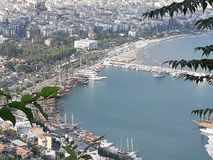 Alanya Harbour. Beauiful wiew of Alanya Harbour Turkey stock image