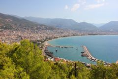 Alanya harbour view royalty free stock images