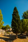 Alanya Kalesi. Brick ancient castle wall. Alanya, Turkey. Wonderful country. Ruins of the fortress of Alanya.Brick wall. Castle in. Turkey royalty free stock image