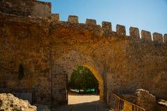 Alanya Kalesi. Brick ancient castle wall. Alanya, Turkey. Wonderful country. Ruins of the fortress of Alanya.Brick wall. Castle in. Turkey stock photography