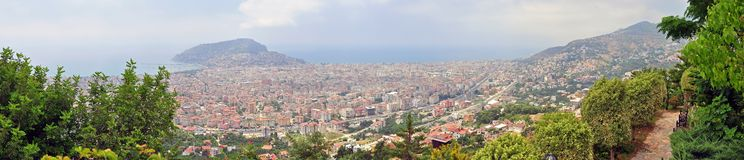Alanya landscape 3. City of Alanya landscape with the Castle in the background Royalty Free Stock Images