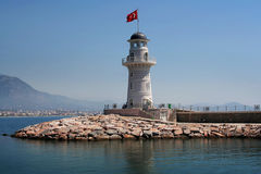 Alanya Lighthouse Stock Photo