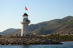 Alanya lighthouse Royalty Free Stock Images